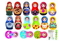 russian doll adesivo children room wall sticker kitchen cozinha decal furniture fridge poster