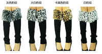 Fashion New Style Womens Boot  Socks Knee High Knitted Leg Warmer Faux Rabbit Fur Cover Multi Color Cotton Boot Gaiters Leopard