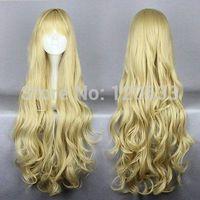 80cm Golden angel sanctuaryRosielsynthetic Heat Resistant Fiber Long Cosplay Wig Kanekalon Hair brazilian no Lace Front Wigs