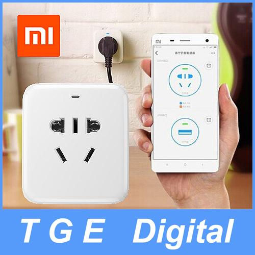 Original Xiaomi Smart Socket Intelligent Plug WiFi Wireless Android Phone Remote control EU US AU Charger with 5V 1A USB Port(China (Mainland))