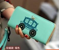 2015 New Arrival Hot Sale, Ladies cartoon wallet PU Long zipper Fashion Women Wallets, Female causal Women Purse