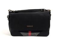 DA384 B New 2015 elegent grid genuine leather Linen Patchwork messenger bag wholesale drop shipping free shipping