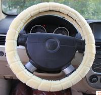 New warm winter autumn car steering wheel cover steering wheel hubs Fur red black begin brown diameter 38CM general model