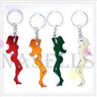 alloy sexy girl bottle opener keychain car key ring key chain advertising wedding gift keychains
