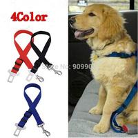 10PCS/ Lot  Mixed Color Outdoor Dog Pet  Adjustable Car Safety Seat Belt Harness Restraint Lead Travel Clip Dog Traction Belt