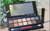 New 14 Color Smash Box Full Exposure Palette Eyeshadow Kit Set Makeup Brush With Brand Mascara (60pcs/lot)+gift