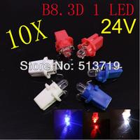 wholesale 10x 24v B8.3D T5 led bulb super bright console light bulb instrument tray lamp speed table led lighting Free shipping