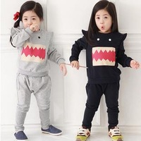 New 2015 Baby Girls clothing Set brand clothing Girls Spring Autumn cartoon Long sleeve sport suits kids clothing sets FF894