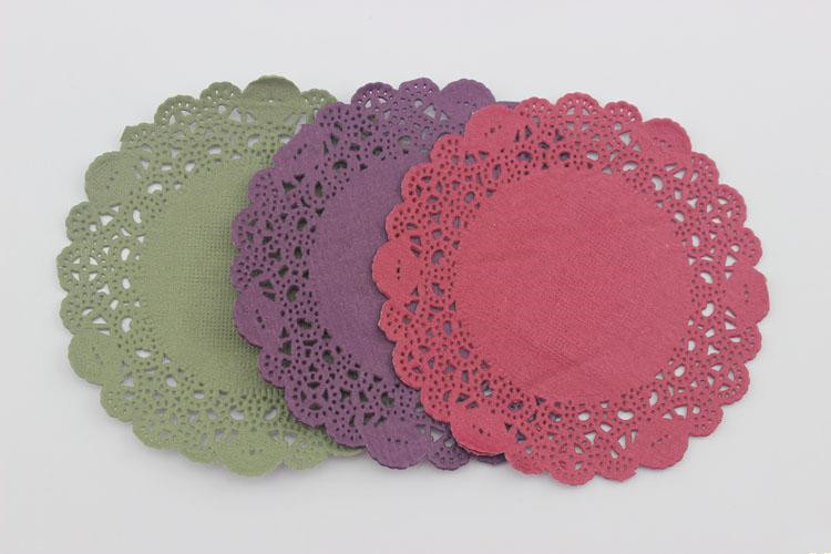 """200pcs Colorful 4""""Inch newest Christmas color series Paper Doilies, Craft Doilies, Wedding Cards(China (Mainland))"""