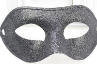 (10 pcs/lot) New Hot Sale Handmade Half-face Plain Black Color Adult Size Glittered Plastic Fancy Zorro Mask