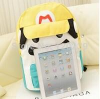 2015 RAXH Lovely cartoon Super Mario backpack Fashion Student bag Hot sale Canvas bag women bag