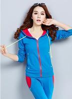 M-XXL Plus Size Sports Suits Women Casual Two Piece Set 4 Colors Tracksuits for Women Sportswear 81