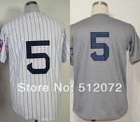 New York #5 Joe DiMaggio Men's Authentic Throwback 1939 Home White/Road Grey Baseball Jersey