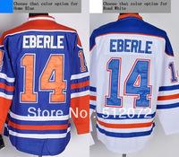 Edmonton #14 Jordan Eberle Men's Authentic Home Blue/Road White Hockey Jersey