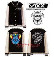 VIXX Voice Visual Value in Excelsis baseball uniform kpop sweatshirt hoodie hip hop hoodie vixx