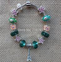 newest chunky manurao beads bracelet classical eiffel tower pendant bracelet for lady,women party,wedding bracelet jewelry !!