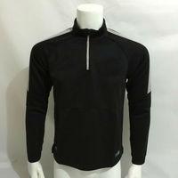 Top thai quality  pair 2015 sweater  authentic training sleeved keep warm CAVANI DAVID LUIZ IBRAHIMOVIC black halfzip hoodies