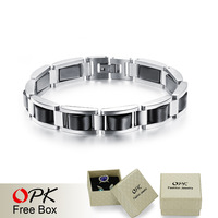 OPK Man Health-Care Hematite Bracelets Fashion Trendy Black Stainless Steel Men Jewelry Wholesale Price GS751