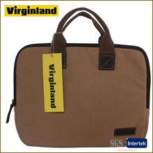 8003 computer bag,business bag,13-inch canvas computer bag,khaki business handbag,cotton canvas computer bag
