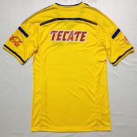 Mexico tigres uanl home yellow 14/15 soccer jersey   football shirt