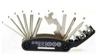 Free Shipping 2015 HOT Bicycle Repair Tools Multifunctional 15-In-1 Folding Mountain Bike Repair Tools
