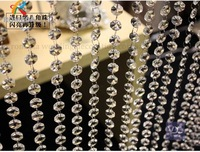 10M Crystal Clear Acrylic Bead Diamond Strand Garland Chandelier Tree Hanging Wedding Decoration Free Shipping