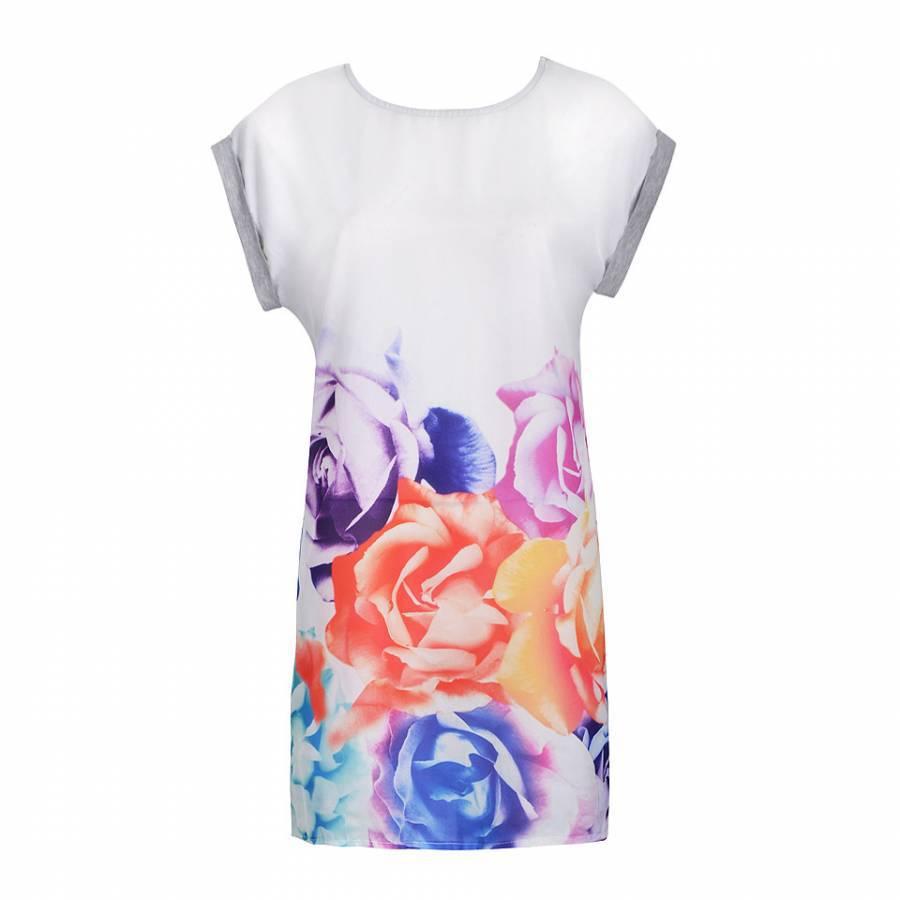 Shirt new design 2015 - Wholesale 2015 Summer New Design Bandana T Shirt Dress Multicolor Print Casual Women Dress Cozy 100 Cotton European And American Style