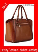 Hot ! 2015 fashion OL high-end business handbag elegant genuine leather cowhide leather handbag one shoulder women's handbag