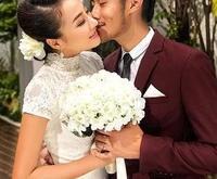 Hydrangea wedding bride holding flowers simulation Korean wedding photography studio props new wedding pictures