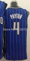 Orlando #4 Elfrid Payton Men's Authentic Home White/Road Blue Basketball Jersey