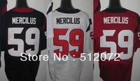 Houston #59 Whitney Mercilus Men's Authentic Elite Team Navy/White/Alternate Red Football Jersey