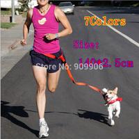 2015 Adjustable Harness Nylon Leash Lead Pet Dog Walking Running Jogging Hands Free Belt  Dog Traction Rope Belt Dog Sport Belt