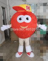 yellow hat fruit mascot costumes tomato costumes