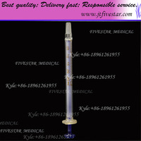 Glass Syringe With Glass Tip 0.25ml / 0.25cc