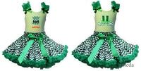 Green Chevron Pettiskirt Plus St. Patricks Day Leprechaun Shoes Hat Mustache Lime Green Tank Top 1-7Y