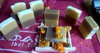 Calendula sweet almond cocoa soap two-color soap handmade soap cold soap sensitive moisturizing fresh silky