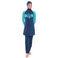 New print Muslim swimwear for women plain  Islamic Swimsuit  Islamic clothing free shipping