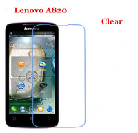 10pcs/lot New CLEAR Screen Protector Guard Cover Film For Lenovo A820 without Package Free Shipping