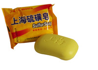 1pcs/lot 85g Shanghai Sulfur Soap high Efficient anti itching,dandruff,acne soap for Skin care,Bath soap bubbles antifungal