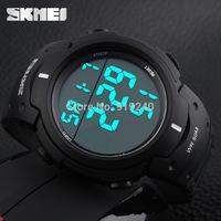 Free shipping 2015 fashion casual Men's watch Waterproof Luminous Outdoor Motion Black Electronic Wristwatches---mkiu