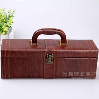 Wine box red wine leather box red wine gift box red wine leather box wine packaging box wine box