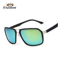 Sunglasses Men Polarized Driving Glasses 2015 New Oculos de sol masculino Fashion Sports&Outdoor Mirror Gold Green Lens sg262