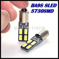 2015 NEWS !! Free shipping 50PCS/lot Car Auto LED ba9s 194 W5W Canbus 8smd 5630 5730 LED Light Bulb No error led light