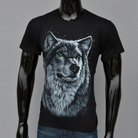 Snow Wolf Men Tide Of 3 D Printing T-shirt New 3 D Printing Foreign Trade Of America And Europe Pop Elements Men With Short Slee