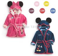 2014 boys girls cartoon Baby bathrobe baby hooded bath towel robe high quality children Bathing Suits
