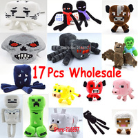 17pcs/lot Minecraft Wholesale Gift Plush Toys High Quality Cartoon PlushToys Game Kids Toys Minecraft Cartoon Game Toys