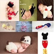 Molle handmade del crochet di cotone neonato fotografia puntelli maglia berretti costume set per 0 ~ 6 mesi vestiti e accessori KF498  (China (Mainland))