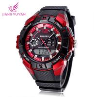 2015 New Fashion Brand Digital Analog Watch Men Outdoor Sports Silicone Wristwatches