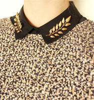 New Arrival Women Brooches Vintage Unisex Leaf Collar Shirt Brooch Pins Brooch Buckle Collar Clip BR003