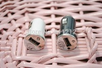 Mini 12v / 24V Portable  USB Car Charger Power Adapter for iPhone iPad iPod Galaxy MP3 MP4 5V out for Iphone 5 6 6plus car- 002